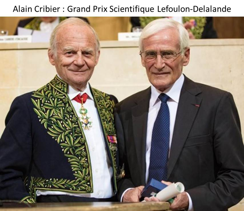 Alain Cribier: Lefoulon-Delalande Foundation Scientific Grand Prize